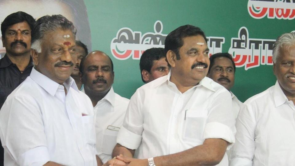 Merger of AIADMK factions,Jayalalitha death,OPS EPS merger