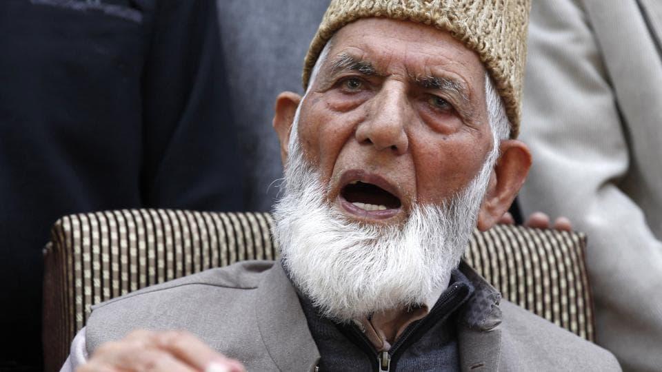 Syed Ali Shah Geelani,Kashmir,Kashmir issue