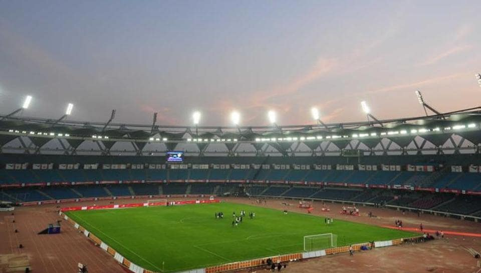The main football pitch and warm-up area at the Jawaharlal Nehru stadium has been shut for renovations ahead of the 2017 FIFAU-17 World Cup.
