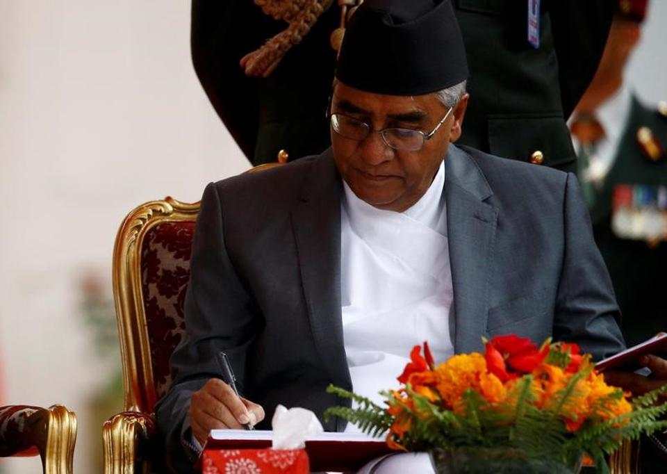 File photo of Nepalese Prime Minister Sher Bahadur Deuba in Kathmandu.