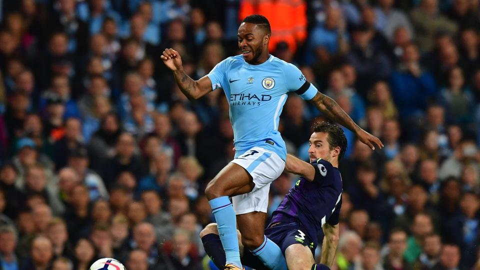 Raheem Sterling rescued a point for Manchester City after Wayne Rooney's 200th Premier League goal.