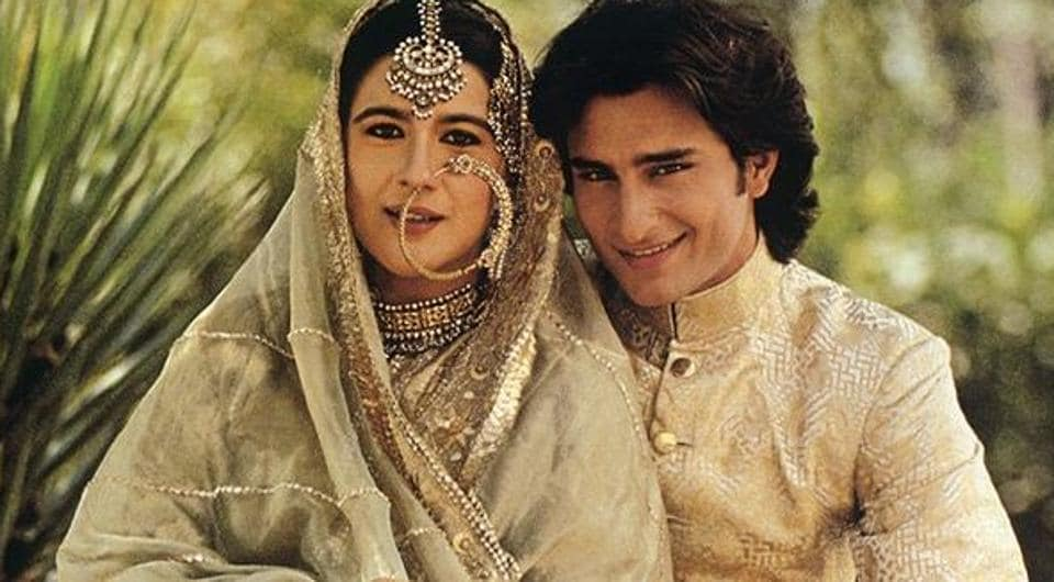 Amrita Singh,Saif Ali Khan,Amrita and Saif wedding
