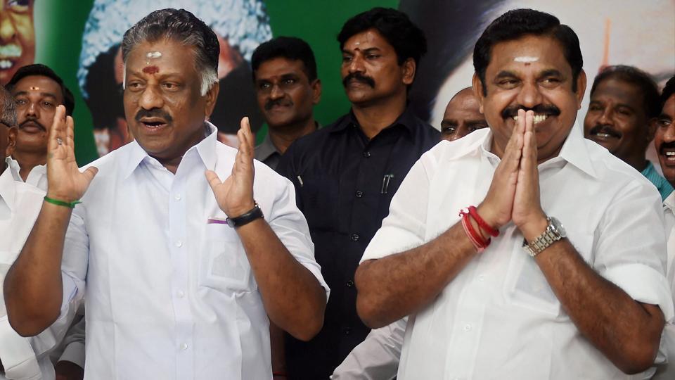 Tamil Nadu,O Panneerselvam,Edapaddi Palanisami