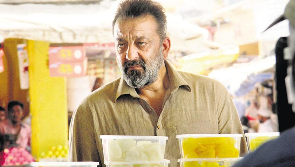 Sanjay Dutt on the sets of Bhoomi.