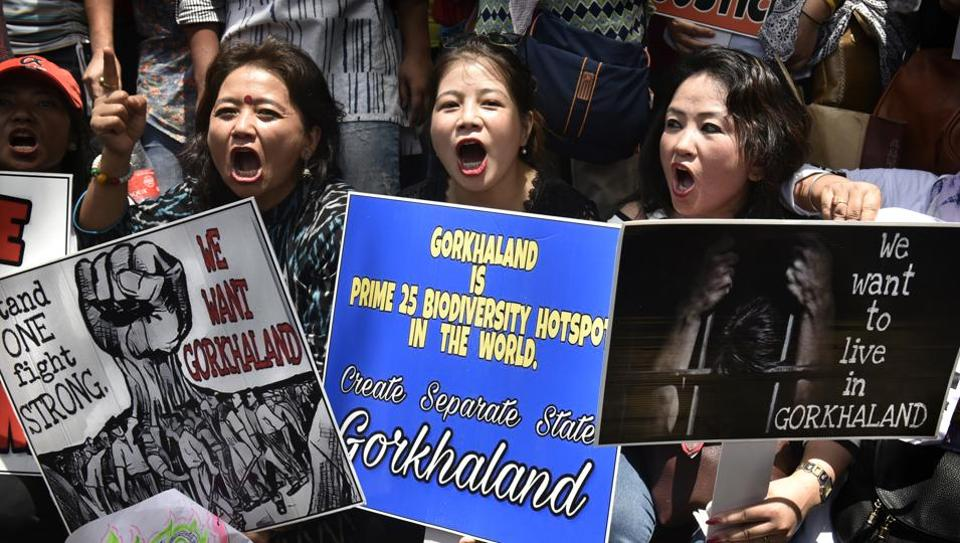Gorkhaland,Gorkhaland agitation,Gorkha National Liberation Front