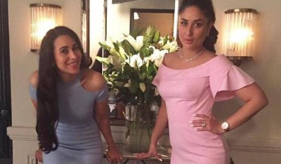 Kareena Kapoor and Karisma Kapoor during a brand shoot.