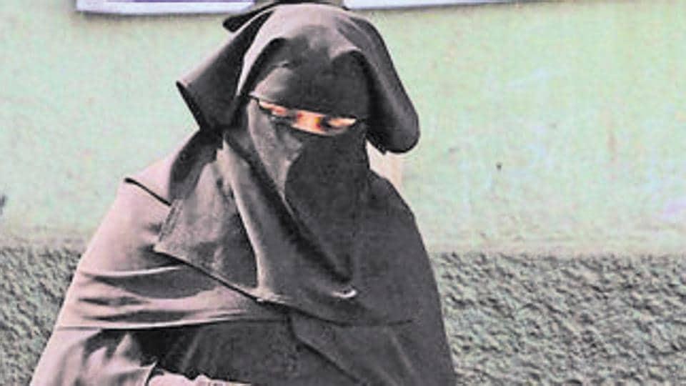 Burqa,Muslim Woman,Delhi Airport