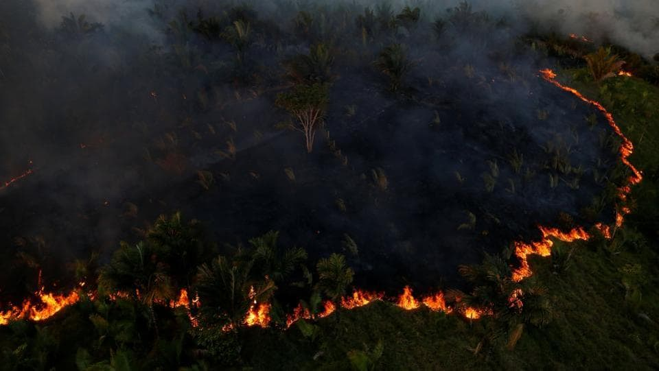 The small town of Apui sits at the new front-line of Brazil's fight against advancing deforestation in the Amazon rainforest where vast fires belch jet black smoke visible for miles while loggers denude the jungle. According to PRODES (Programa Despoluição de Bacias Hidrográficas or Basin Restoration Program) roughly 7,989 square kilometres of forest were destroyed in 2016, a 29% increase over the previous year. (Bruno Kelly/REUTERS)