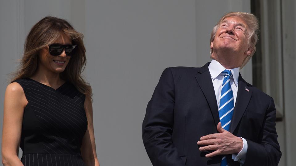 Solar eclipse 2017,Donald Trump,Trump solar eclipse