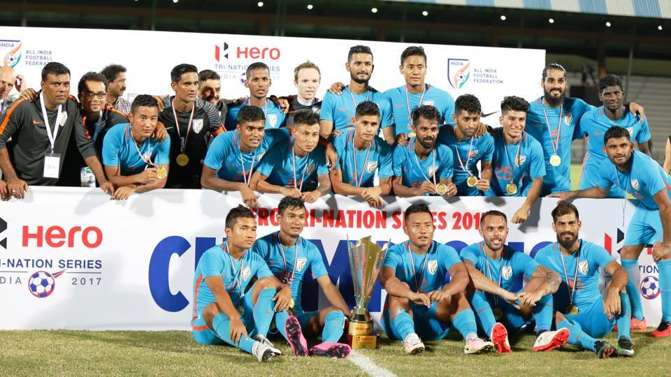 Indian Football team,St Kitts & Nevis football team,Tri-nation football series