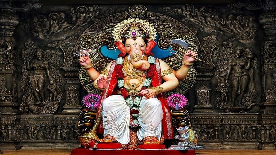 During Ganesh Chaturthi devotees flock to public