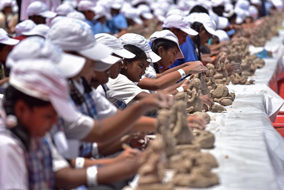 Brainchild of mayor Mukta Tilak, the idea was to promote an environment- friendly Ganesh Festival.