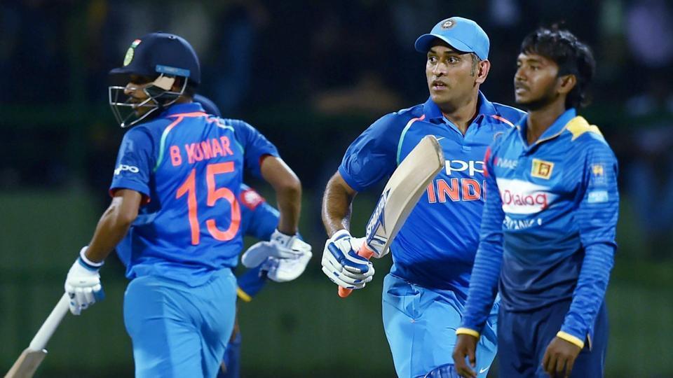 Akila Dananjaya picked six wickets but MS Dhoni and Bhuvneshwar Kumar's 100*-run stand helped India defeat Sri Lanka in the second ODI.