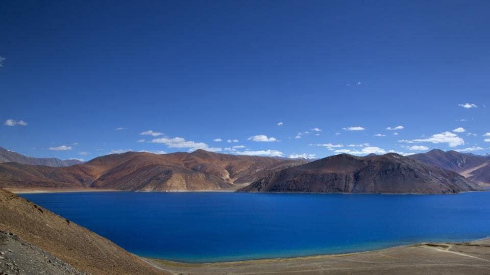 File photo from June 2016 showing Pangong lake in Ladahak region. Indian and Chinese soldiers clashed near Pangong Lake on August 15, 2017. China has questioned India's decision to build a road near the lake.