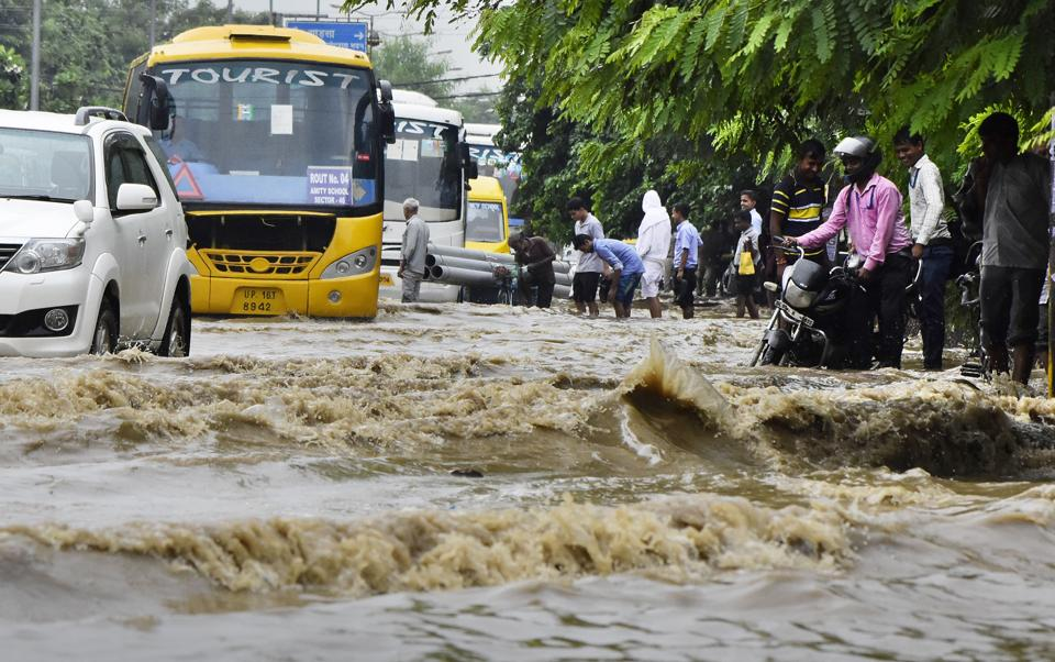 Heavy showers cause water-logging, power cuts as Gurugram's rain plan called into question