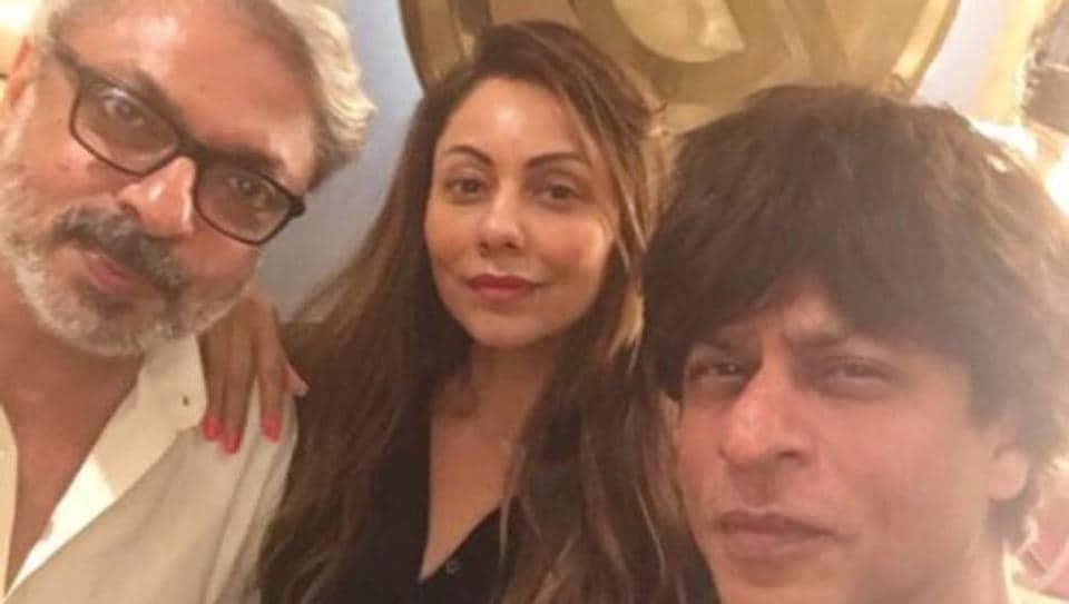 Shah Rukh Khan,Gauri Khan,Sanjay Leela Bhansali