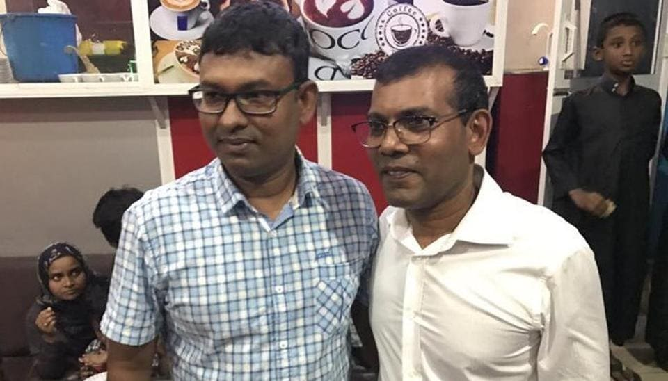 File photo of Mohamed Nasheed, former president of the Maldives and founder of the Maldivian Democratic Party.