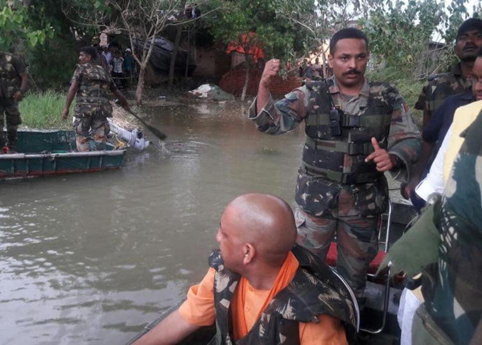 Dams damaged,Gorakhpur,Uttar Pradesh