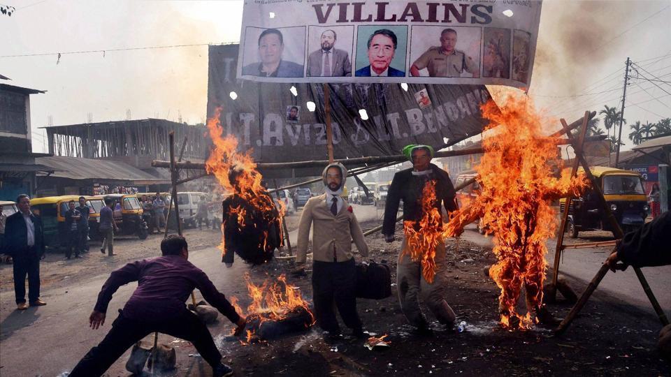Rishang Keishing,Nagaland,Kashmir issue