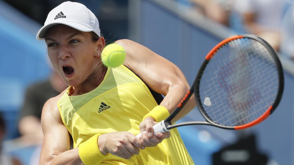 Simona Halep,Maria Sharapova,US Open