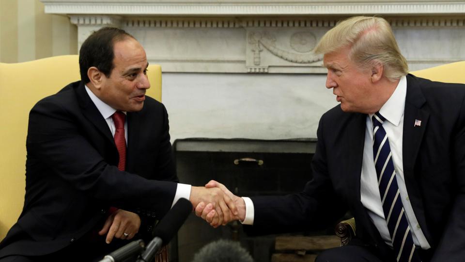 Donald Trump,Abdel Fattah al-Sisi,US aid
