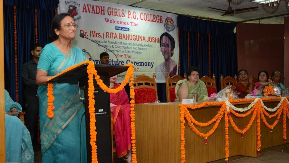 Rita Bahuguna Joshi,Uttar Pradesh cabinet minister,Anti-romeo drive