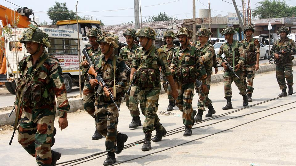 To avoid a repeat of the violence in Panchkula that left 34 people dead, 10 companies of paramilitary forces were deputed in Rohtak along with the army.