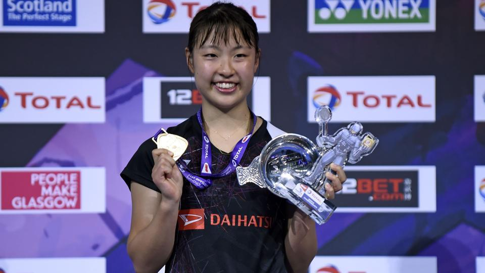 Nozomi Okuhara became the first Japanese player to win a world badminton singles title . (AFP)