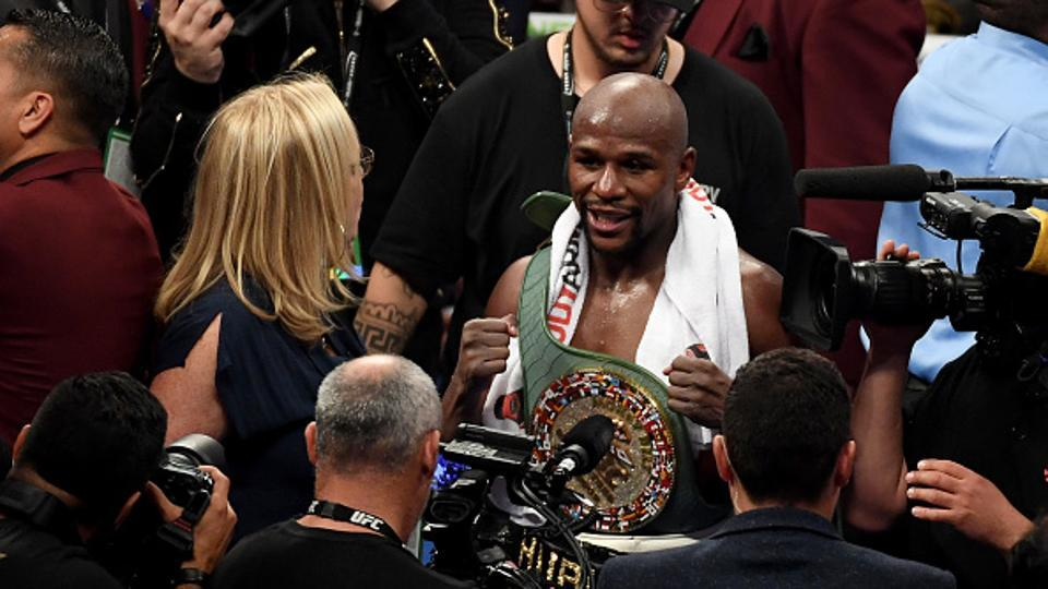 Mayweather announced his retirement after the bout. (Getty Images)