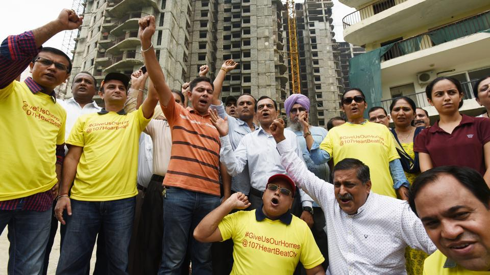 Amrapali,protests,real estate