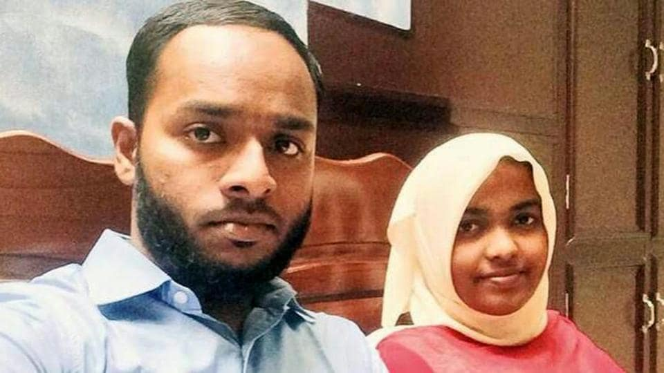 A file photo of Hadiya (24), a Hindu convert, married a Muslim youth Shefin Jehan, a Gulf returnee, in last December. Her father later moved the court saying she was indoctrinated while pursuing her studies and it was part of a larger conspiracy called 'love jihad' and his only daughter may be sent to Syria like the missing 21 from the state.  The Supreme Court asked the NIA to probe the case.