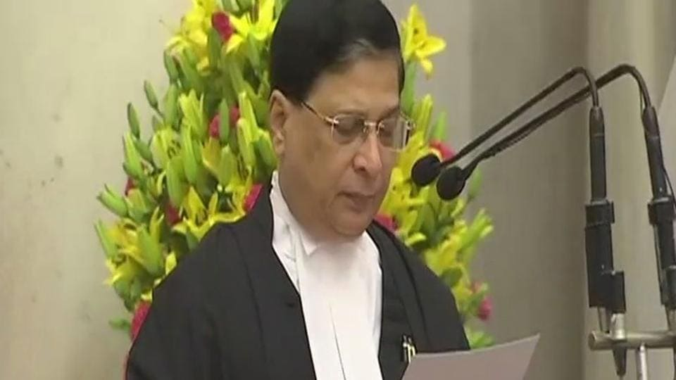 Dipak Mishra became the 45th Chief Justice of India
