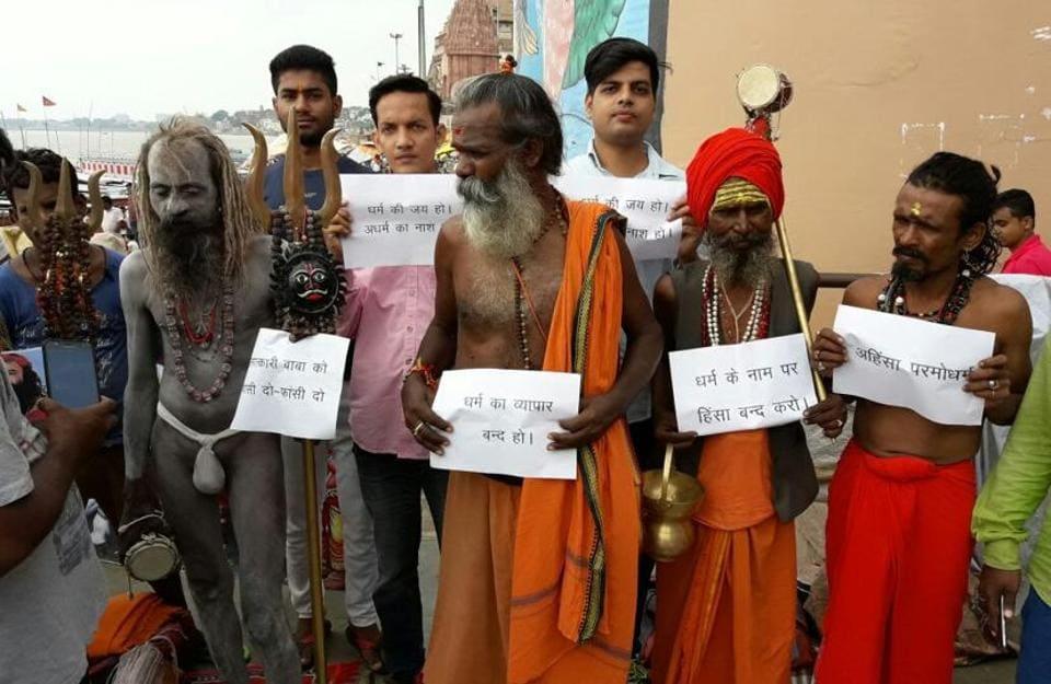 A group of sadhus demanded hanging of rape convict Baba Gurmeet Ram Rahim.