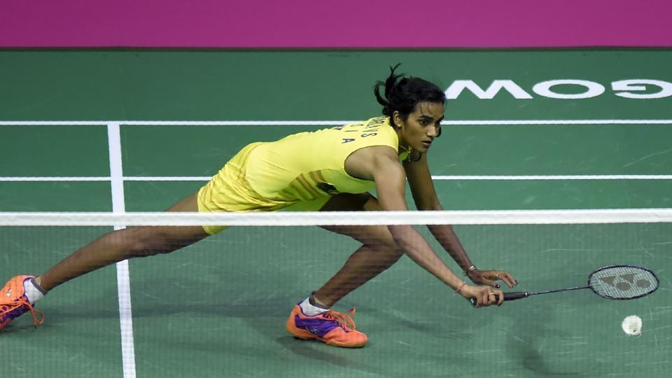PVSindhu, leading at 19-17, had the third game and title in her grasp but could only pocket one of the next six points against Nozomi Okuhara during their women's singles final of the BWF World Badminton Championships at Emirates Arena in Glasgow on Sunday.