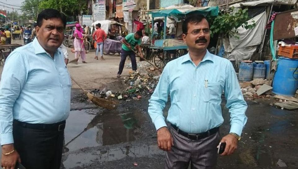 Noida and health department officials inspected the Jama Masjid inSector 8 ahead of Eid on September 2.