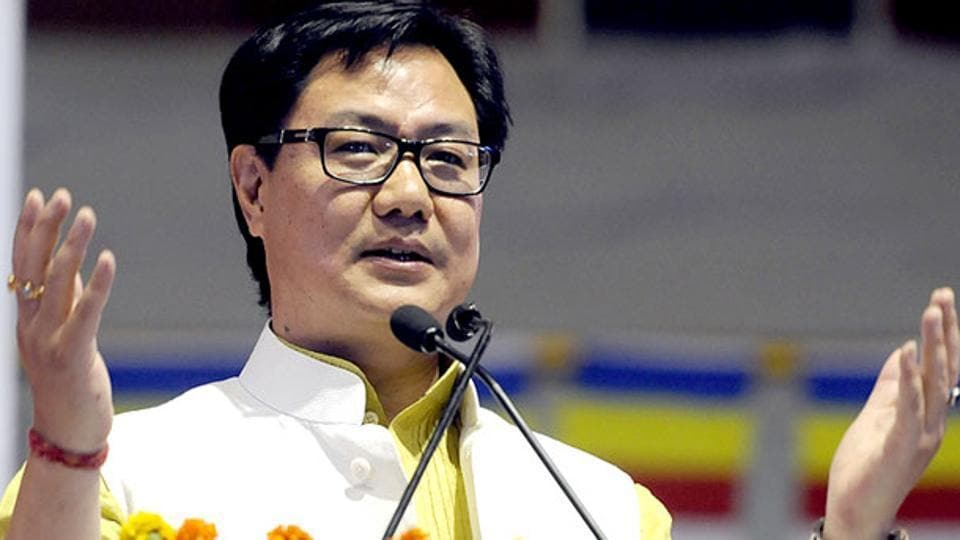 Minister of state for home affairs, Kiren Rijiju, at an event in New Delhi.