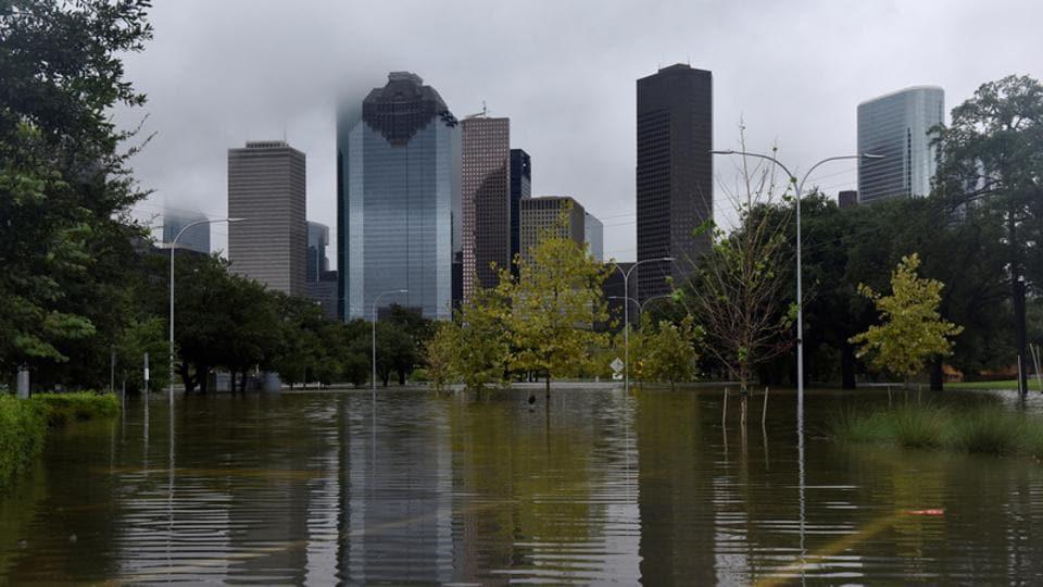 Drone footage,Hurricane Harvey,Houston flood