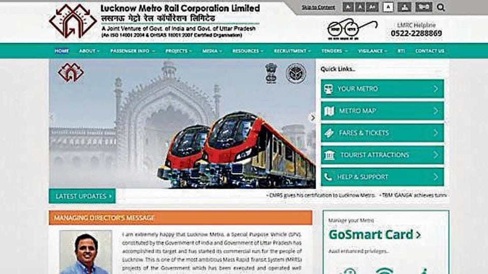 Lucknow metro,Citizen centric website,LMRC website