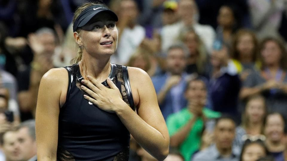 Maria Sharapova needed three sets to down second seed Simona Halep in the first round of the US Open on Monday. (REUTERS)