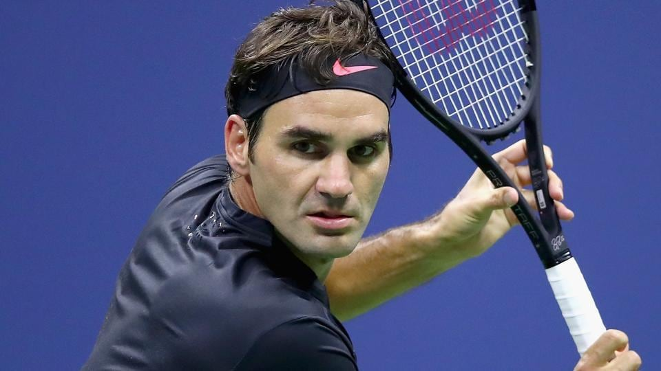 Roger Federer defeated Frances Tiafoe in a thrilling first round encounter at the USOpen. (AFP)
