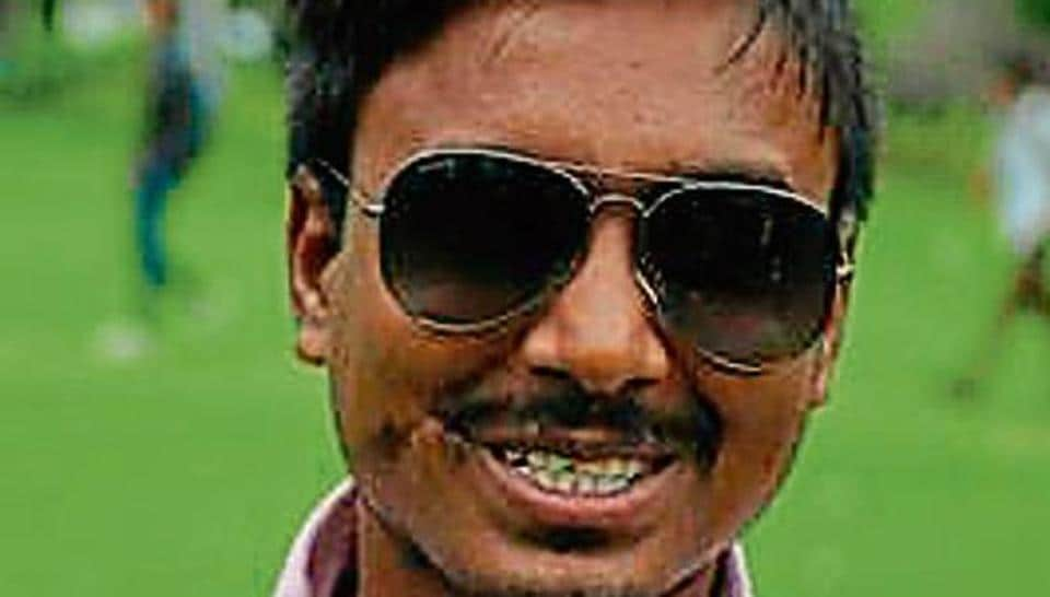 Badri Prasad, who is 100% visually challenged, is AISA's vice-presidential candidate at Post Graduate Government College, Sector 11, Chandigarh.