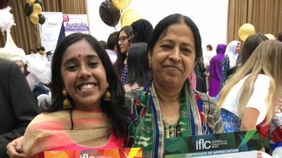 File photo of Hiya Chowdhury, a student of Springdales School in Delhi, who has been chosen the senior runner-up in the Queen's Commonwealth Essay Competition for her story based on India's Partition.