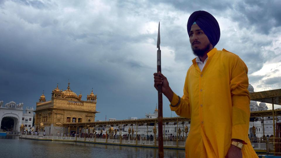 At the Golden Temple in Amritsar.