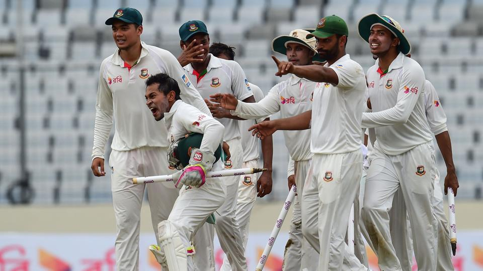 Bangladesh secured their first-ever Test win against Australia as they registered a narrow 20-run win in the first Test in Dhaka. (AFP)