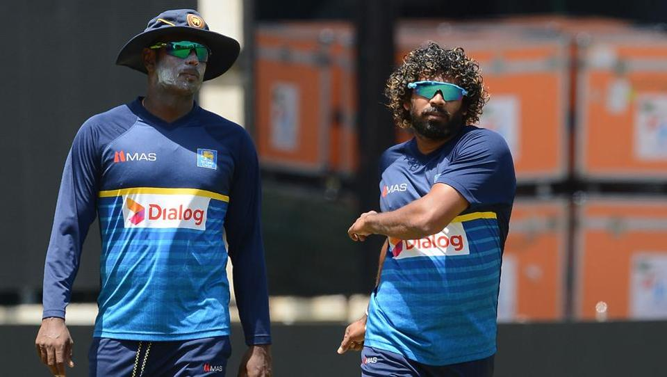 Angelo Mathews (L) will look to get a big score after getting out cheaply in the previous game.  (AFP)