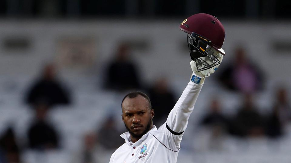 Hope shared a vital partnership with Jermaine Blackwood who chipped in with a vital 41 to get West Indies closer to the target. (Action Images via Reuters)