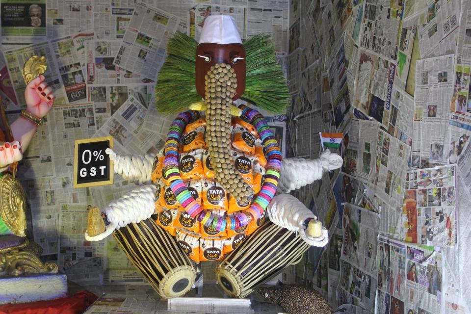 The Ganesha idol at the Mulund mandal.