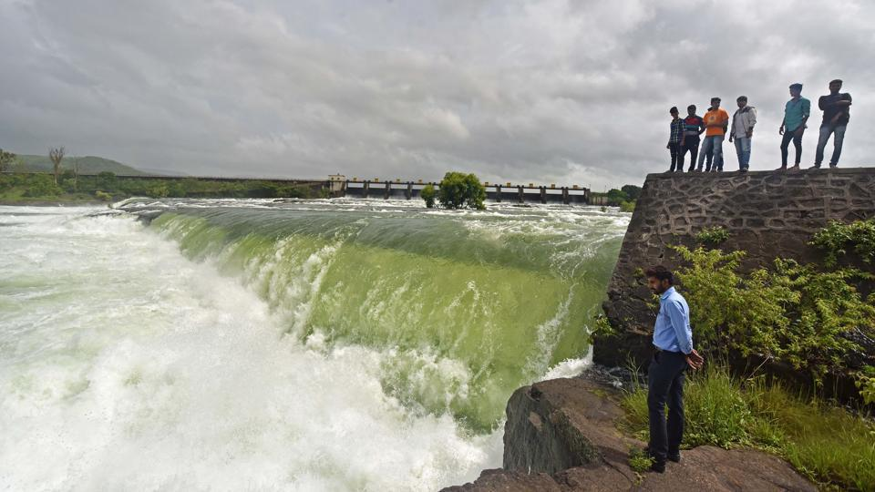 city dams,overflow,rains
