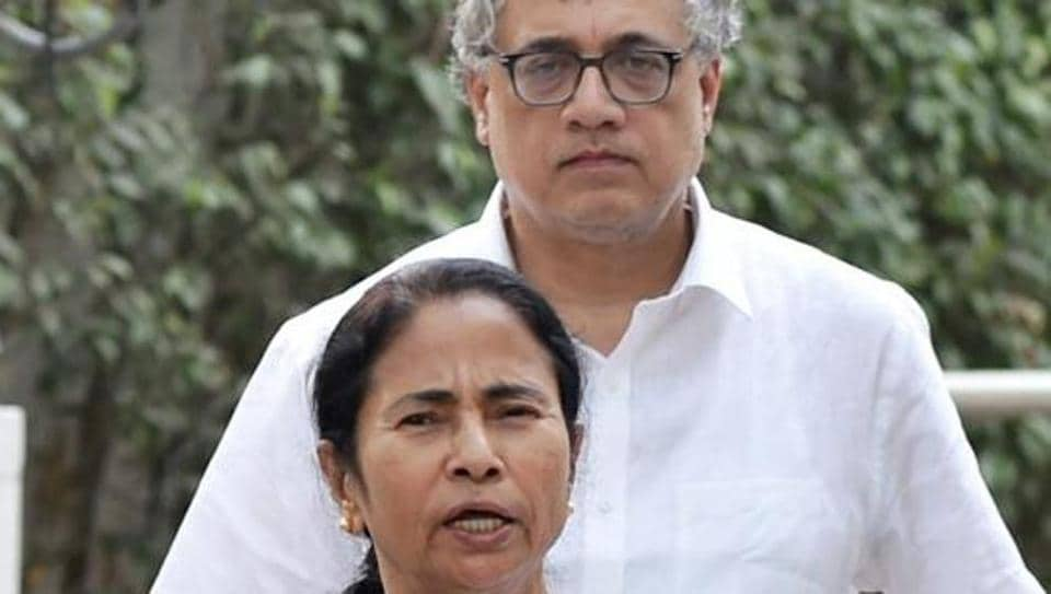 West Bengal chief minister Mamata Banerjee addresses the media with TMC MP Derek O'Brien accompanying her.