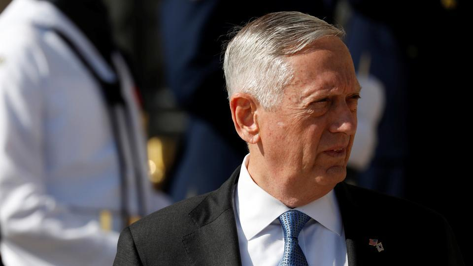 US Defense Secretary James Mattis at the Pentagon in Arlington, Virginia, US, August 30, 2017.